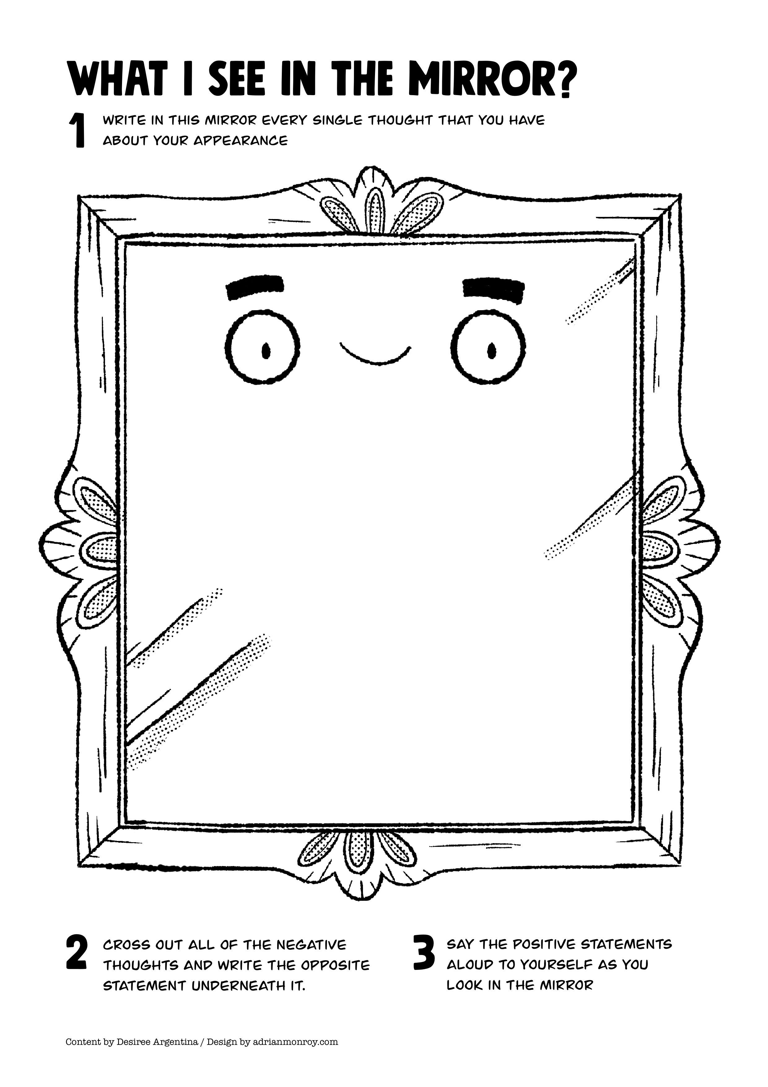 Mirror Self-Esteem Worksheet for Kids and Teens ...
